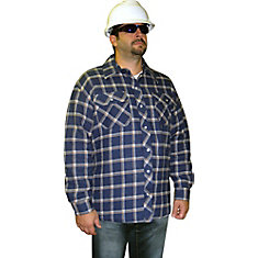 Lined Quilted Plaid Shirt XLarge