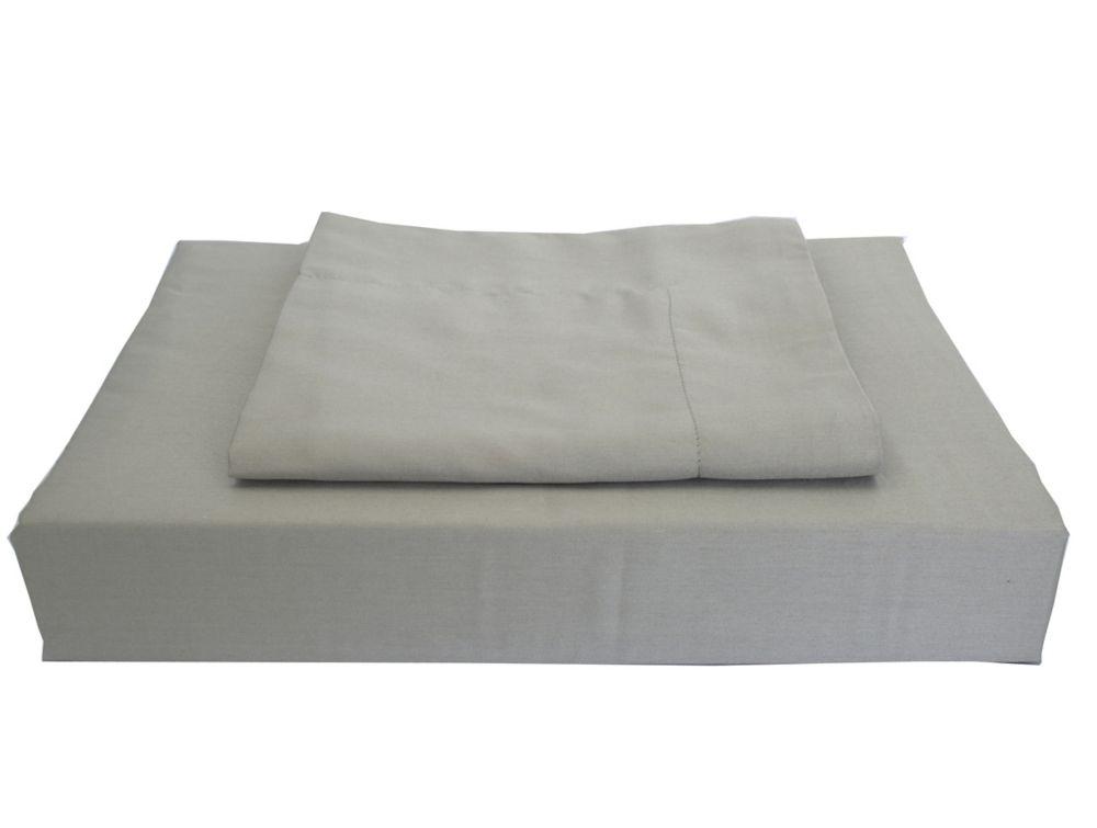 Maholi 230TC Maxwell Duvet Cover Set, Grey, Queen