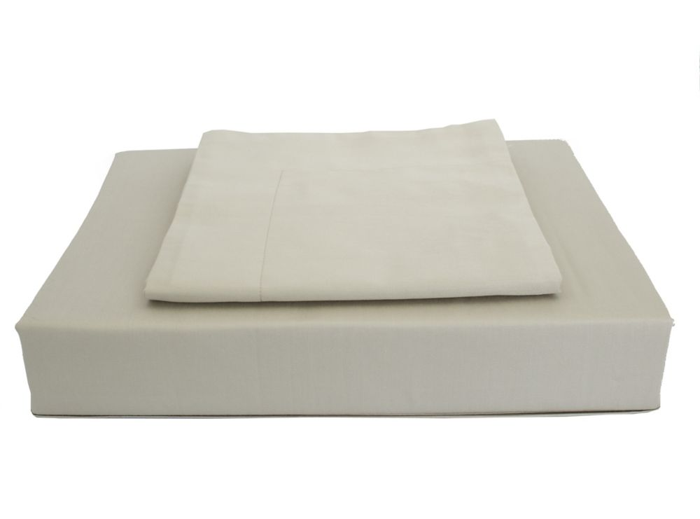 250TC Solid Duvet Cover Set, Taupe, King