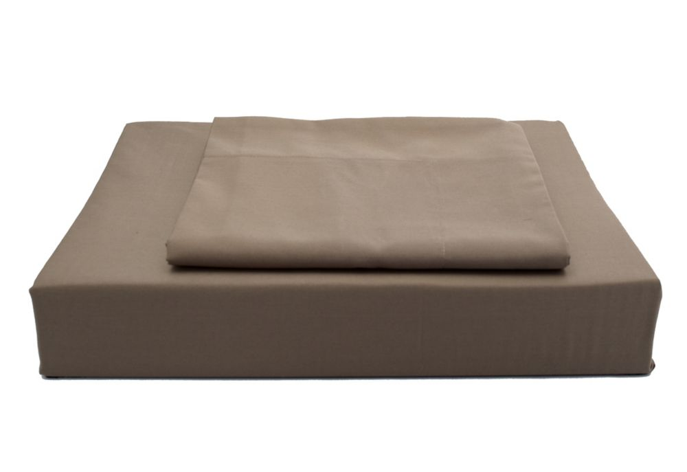 250TC Solid Duvet Cover Set, Chocolate, Double