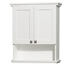 Acclaim 25-inch W x 30-inch H x 9-1/8-inch D Bathroom Storage Wall Cabinet in White