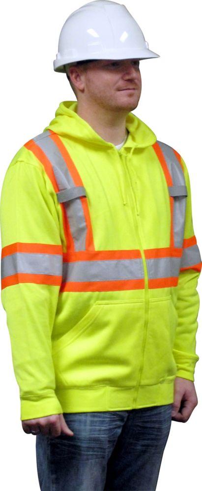 Hooded Fleece Sweatshirt Green 2XLarge