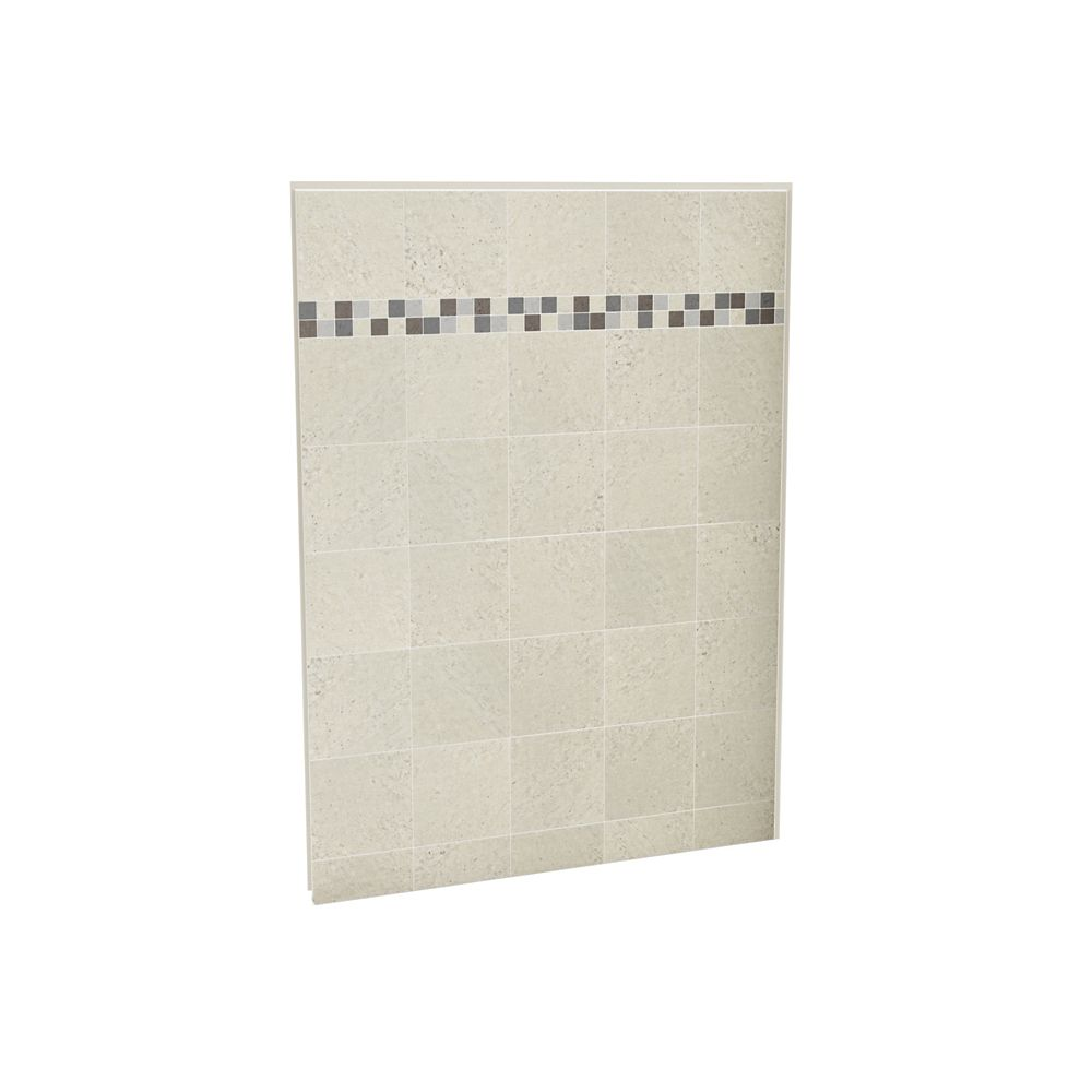 Utile mur de douche arrière 60 po. stone sahara