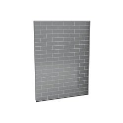 Utile 60-Inch  Back Wall in Metro Ash Grey