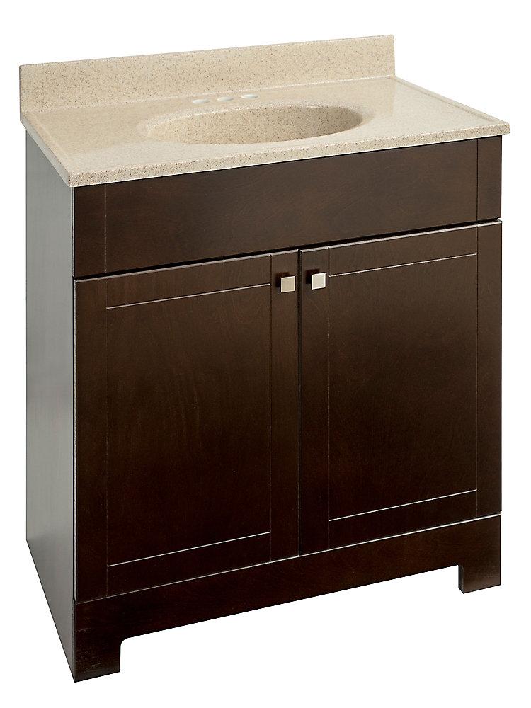 30.88-inch W Vanity in Brown