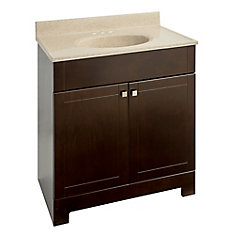 30.88-inch W Vanity in Brown