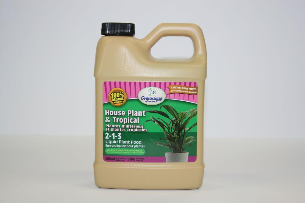 Plantes d'interieur et plantes tropicales 2-1-3, Engrais liquide pour plantes 500ml