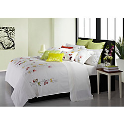 Maholi Spring Meadow Embroidered Duvet Cover Set, Queen