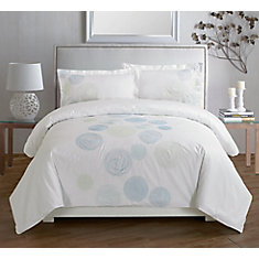 Maholi spiral blue embroidered duvet cover set king the for Housse de couette canada