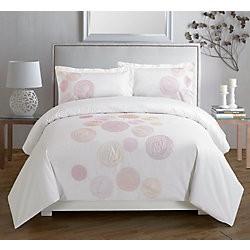 Maholi Spiral Red Embroidered Duvet Cover Set, King