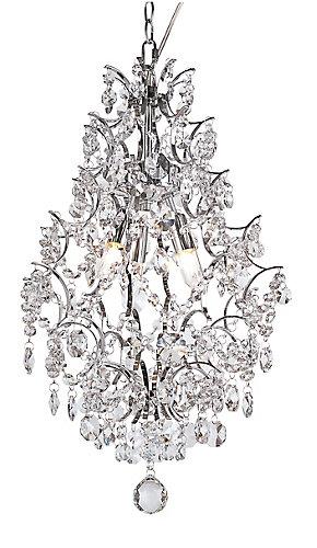 Hampton bay 3 light crystal teardrop chandelier the home depot canada aloadofball Images