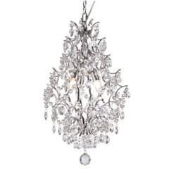 Hampton Bay 3 Light Crystal Teardrop Chandelier