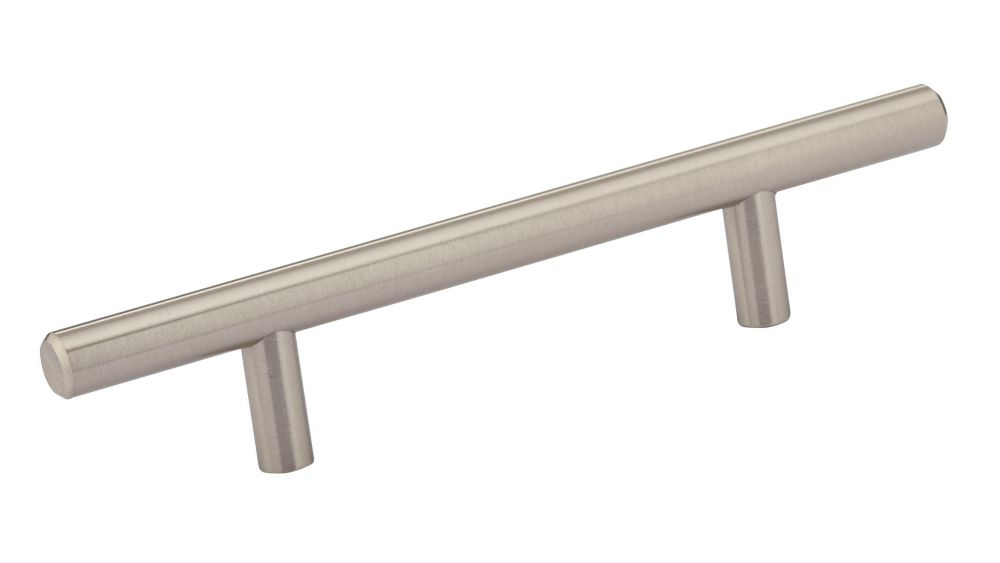 Contemporary Metal Pull - Brushed Nickel - 96 Mm C. To C.
