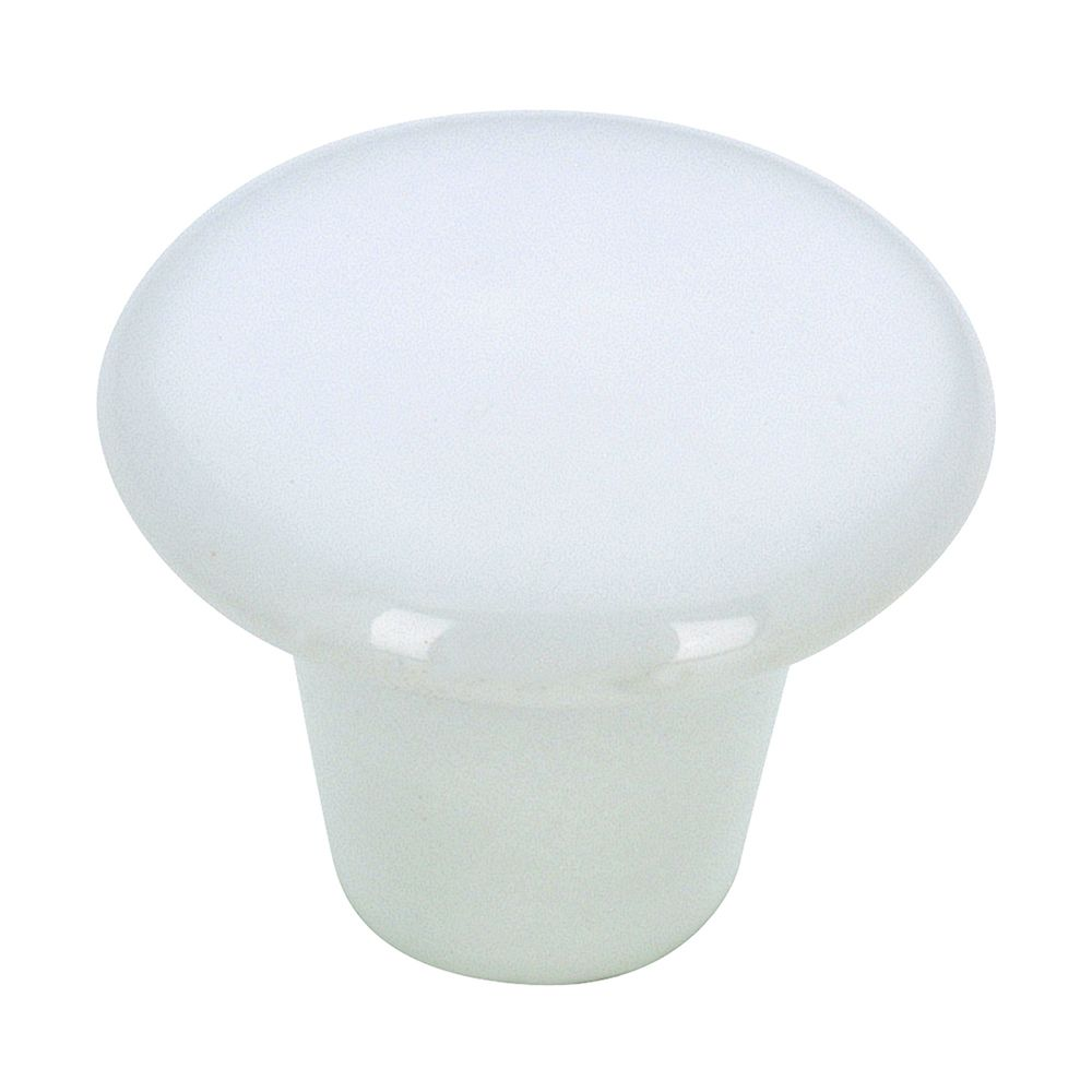 Richelieu Contemporary Ceramic Knob 1 1/4 in (32 mm) Dia - White - Cherbourg Collection