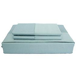 Maholi 600TC Tuxedo Stripe Sheet Set, Blue, Double