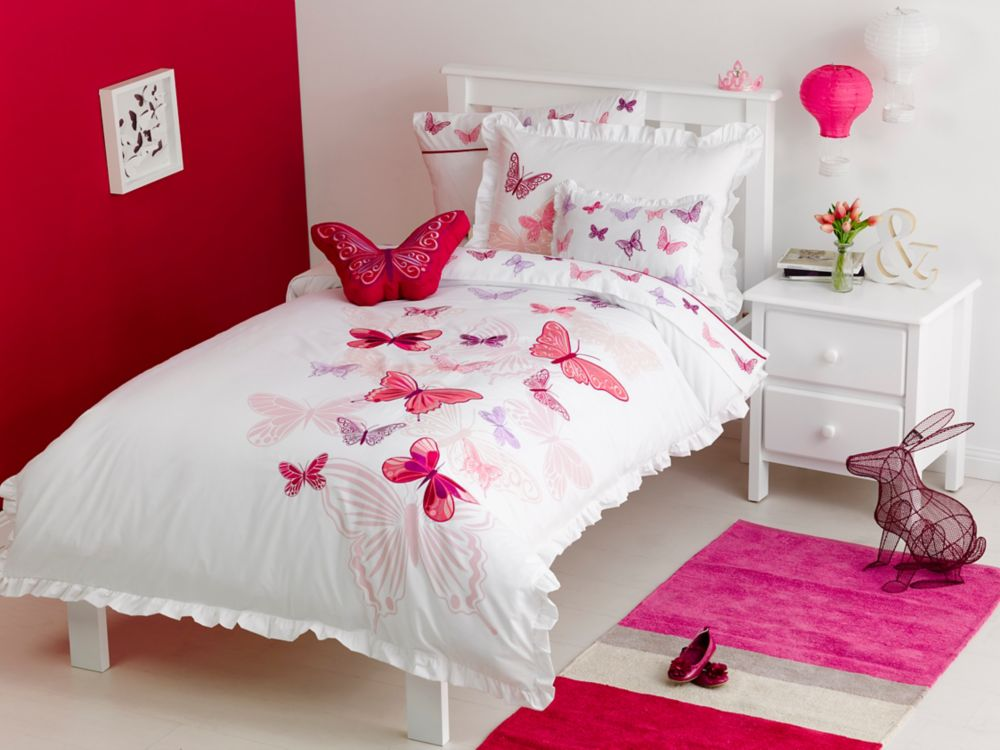 Fly Butterfly Duvet Cover Set, Twin MK-007GDCST Canada Discount