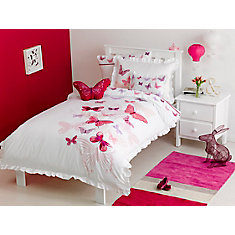 Fly Butterfly Duvet Cover Set, Twin