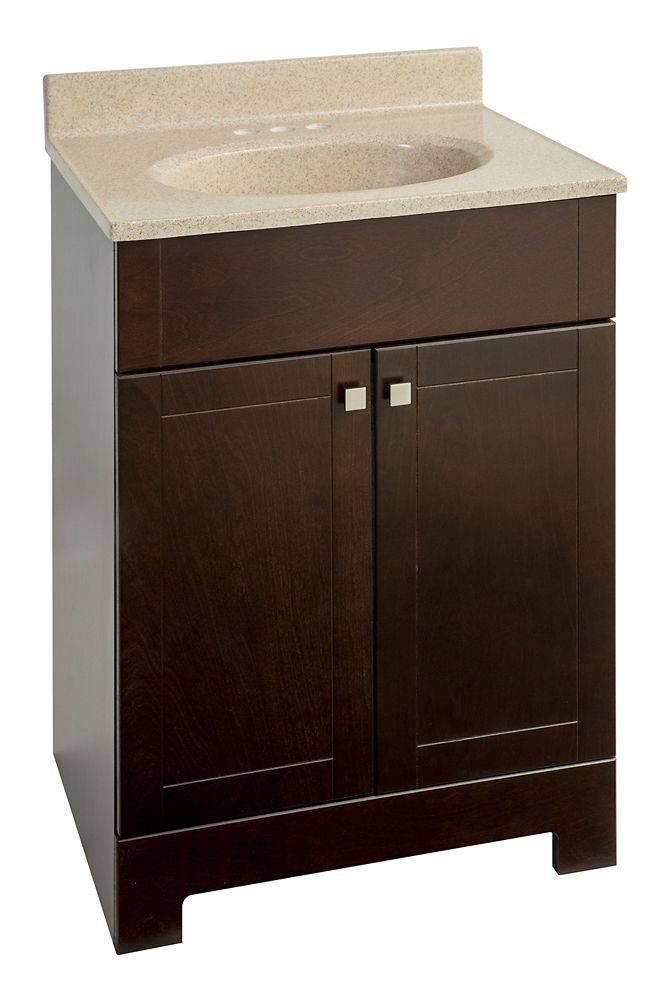 Glacier bay ensemble meuble lavabo java de 25 po home depot canada - Ensemble lavabo meuble ...