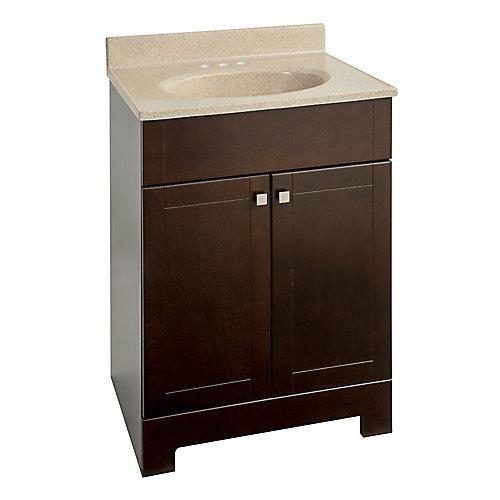 Meuble-lavabo avec dessus en faux marbre, 24 3/4 po L x 18 5/8 po P x 35 3/4 po H