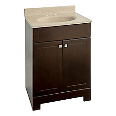 24.75-inch W Vanity in Brown