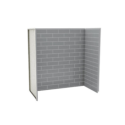 MAAX Utile Tub Shower Wall Kit 6030 Metro Ash Grey | The Home Depot ...