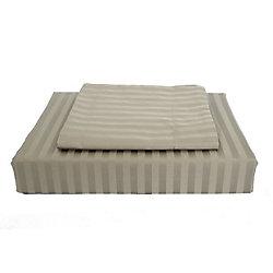 Maholi 400TC Damask Stripe Duvet Cover Set, Olive, Twin