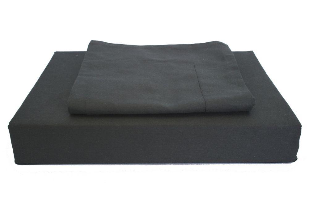 230 fils au pouce, Maxwell - Ensemble de housse de couette, Noir, très grand lit