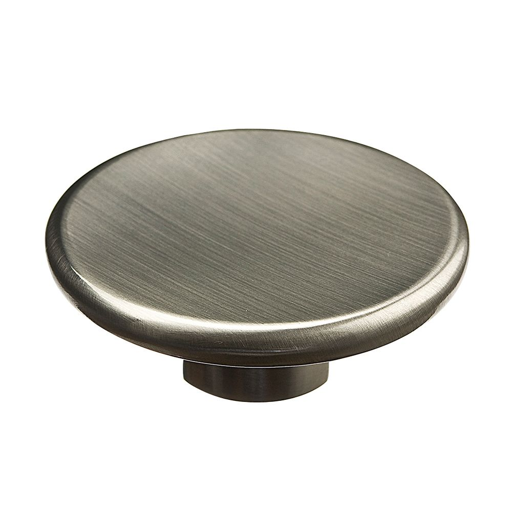 Contemporary Metal Knob - Brushed Nickel - 57 Mm Dia.