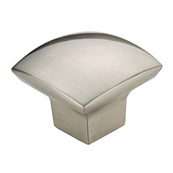 Richelieu Contemporary Metal Knob  Brushed Nickel - Weston Collection