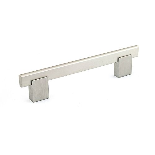 Richelieu Contemporary Metal and Aluminum Pull 5 1/32 in (128 mm) CtoC - Brushed Nickel  - Madison Collection