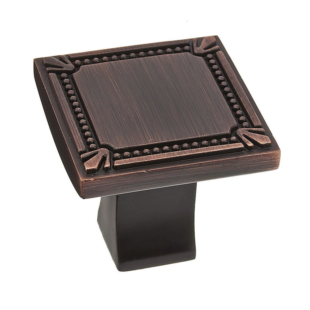 Classic Metal Knob - Brushed Oil-Rubbed Bronze - 35x35mm Dia.