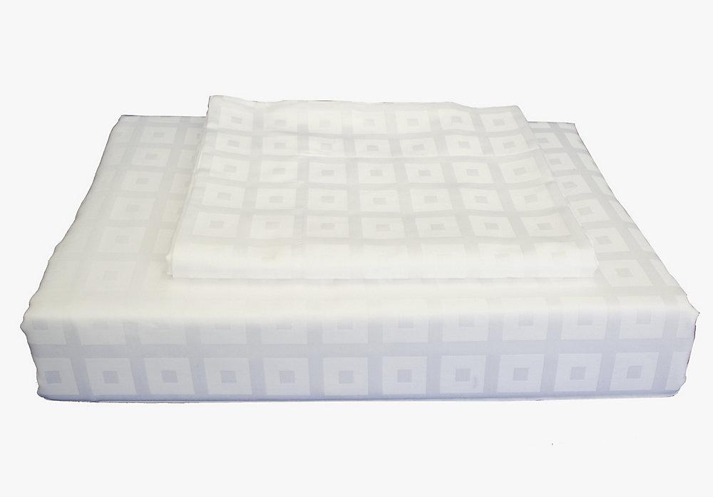 Bliss - Ensemble de housse de couette, blanc, très grand lit