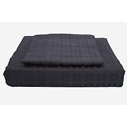 Maholi 400TC Bliss Duvet Cover Set, Black, Twin