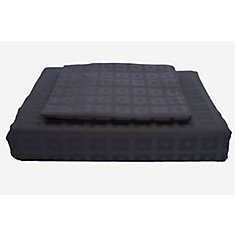 400TC Bliss Duvet Cover Set, Black, Twin