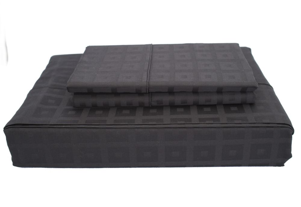 400TC Bliss Sheet Set, Black, Queen LSD-002SSBQ in Canada