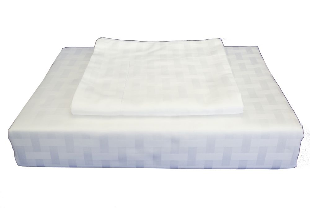 Bamboo Cotton -Ensemble de housse de couette, blanc, grand lit