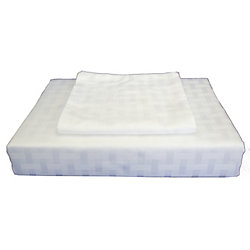 Maholi 400TC Bamboo Duvet Cover Set, White, Queen