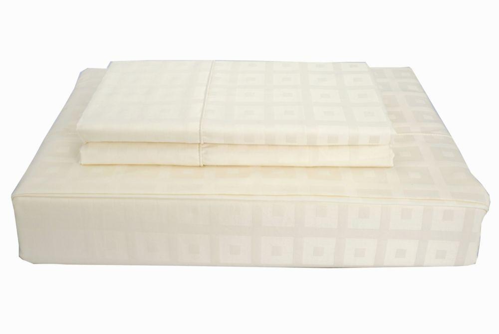 400TC Bliss Sheet Set, Ivory, Double