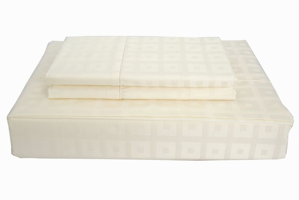 Maholi 400TC Bliss Sheet Set, Ivory, Double