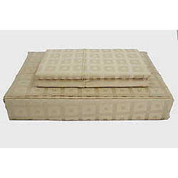 Maholi 400TC Bliss Sheet Set, Taupe, Double
