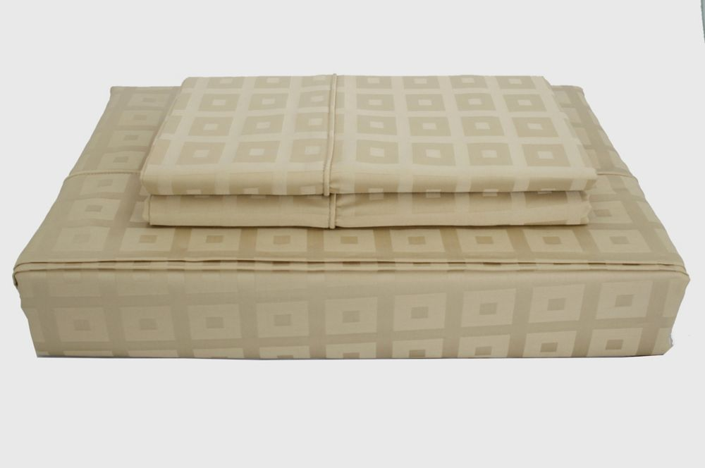 400TC Bliss Sheet Set, Taupe, Double