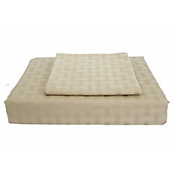 Maholi 400TC Bamboo Duvet Cover Set, Sand, King