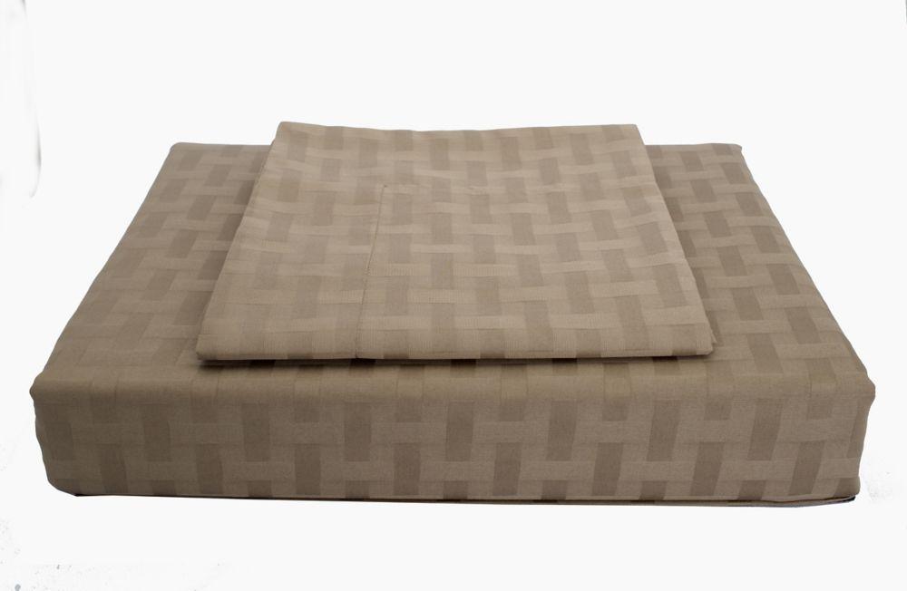 Maholi 400TC Bamboo Duvet Cover Set, Mink, Queen