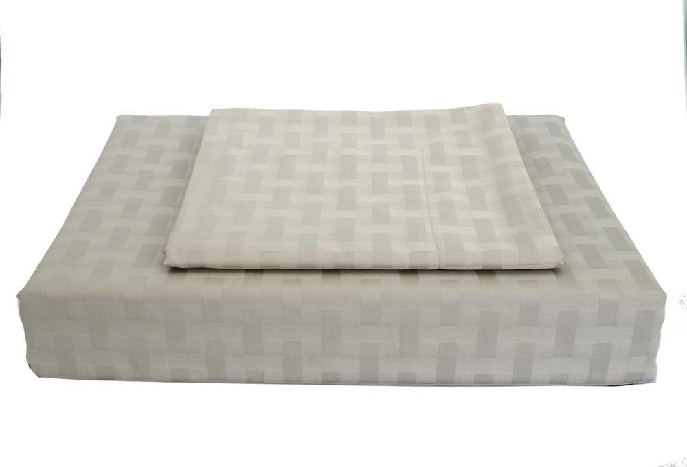 Bamboo cotton - Ensemble de housse de couette, gris, très grand lit