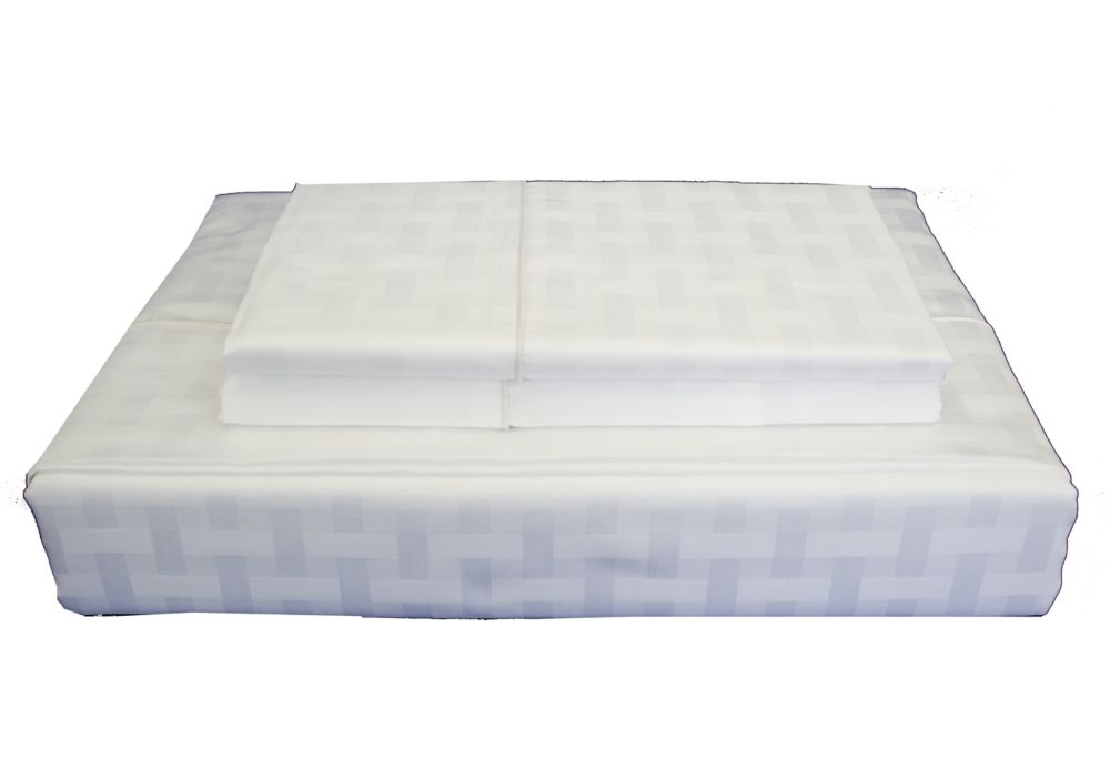 Maholi 400TC Bamboo Sheet Set, White, Queen