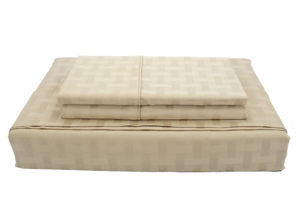 400TC Bamboo Sheet Set, Sand, Queen