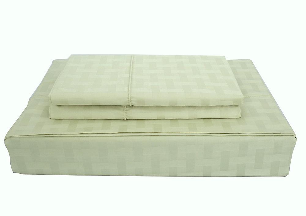 Bamboo cotton - Ensemble de draps, céleri, très grand lit
