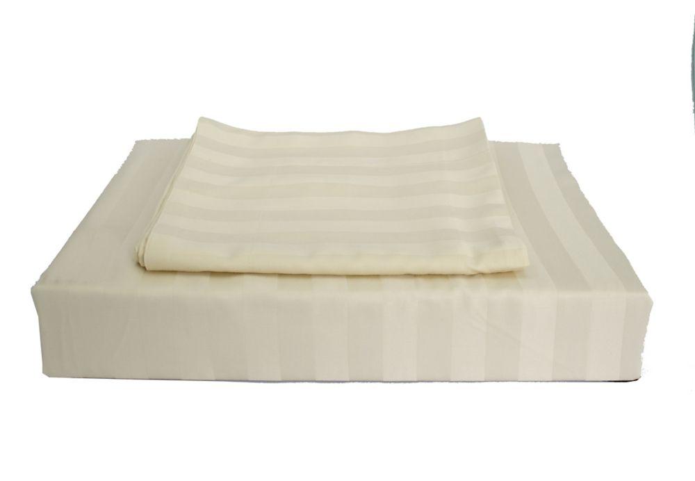 310TC Bamboo Stripe Duvet Cover Set, Beige, King