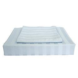 Maholi 310TC Bamboo Stripe Duvet Cover Set, Blue, King
