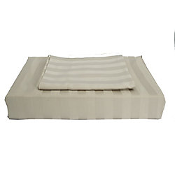 Maholi 310TC Bamboo Stripe Duvet Cover Set, Taupe, Double